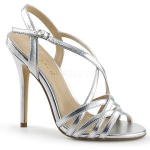 Argent 13 cm Pleaser AMUSE-13 sandales à talons aiguilles