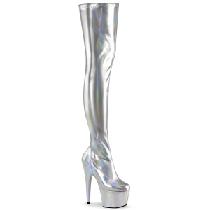 Argent 18 cm ADORE-3000HWR Hologramme bottes overknee plateforme de pole dance