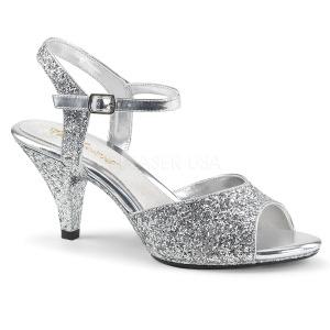 Argent etincelle 8 cm BELLE-309G chaussures travesti