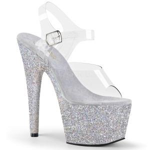 Argent paillettes 18 cm Pleaser ADORE-708HMG chaussure à talons de pole dance