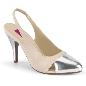 Beige 10 cm DREAM-405 escarpins slingback chaussures travesti