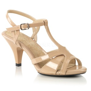 Beige 8 cm BELLE-322 chaussures travesti
