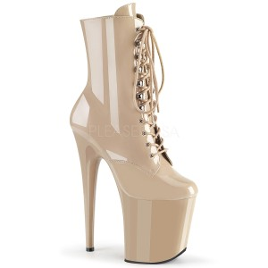 Beige Verni 20 cm FLAMINGO-1020 Plateforme Bottines