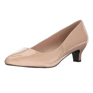 Beige Verni 5 cm FAB-420W Escarpins Chaussures Femme