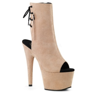 Beige faux suede 18 cm ADORE-1018FS bottines de pole dance