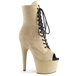 Beige faux suede 18 cm ADORE-1021FS bottines de pole dance