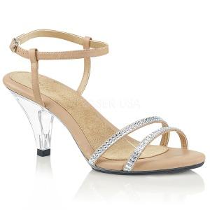 Beige pierre strass 8 cm BELLE-316 chaussures travesti