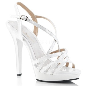 Blanc 13 cm Fabulicious LIP-113 sandales à talons aiguilles