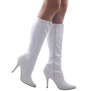 Blanc 13 cm SEDUCE-2000 bottes à talon aiguille vernies