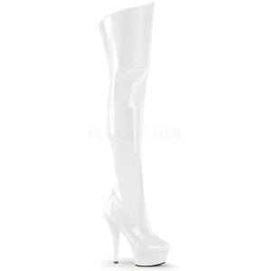 Blanc 15 cm KISS-3010 Cuissardes Bottes Plateforme