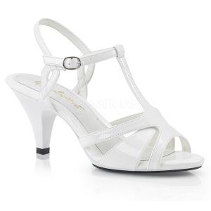 Blanc 8 cm Fabulicious BELLE-322 sandales petit talon bas