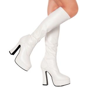 Blanc Mat 13 cm Pleaser ELECTRA-2000Z Plateforme Bottes Femmes