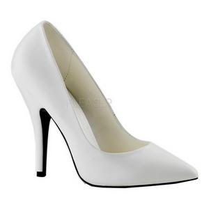Blanc Mat 13 cm SEDUCE-420 escarpins à bout pointu