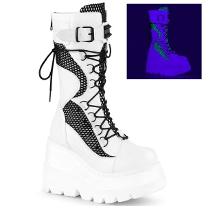 Blanc Neon 11,5 cm SHAKER-70 bottes cyberpunk plateforme