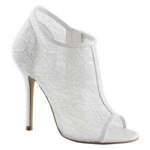 Blanc Tissu 13 cm AMUSE-56 Chaussures Escarpins de Soirée
