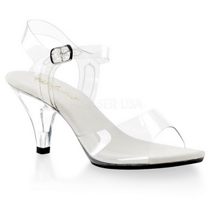 Blanc Transparent 8 cm Pleaser BELLE-308 Haut Talon