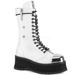 Blanc Vegan 7 cm GRAVEDIGGER-14 bottes demonia - bottes plateforme unisex