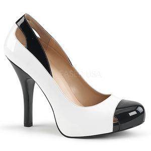 Blanc Verni 12,5 cm EVE-07 grande taille escarpins femmes