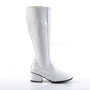 Blanc Verni 5 cm GOGO Bottes Femmes pour Hommes