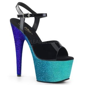 Bleu 18 cm ADORE-709OMBRE etincelle sandales avec plateforme