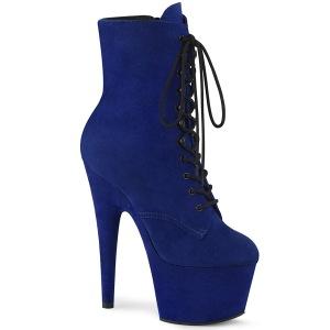 Bleu Similicuir 18 cm ADORE-1020FS bottines femmes à lacets