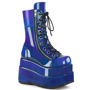 Bleu Verni 11,5 cm BEAR-265 bottines demonia plateforme