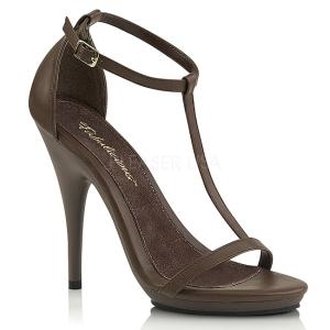 Brun 12,5 cm Fabulicious POISE-526 sandales à talons aiguilles