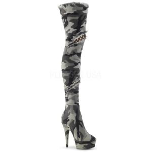 Camoflash Toile 15 cm DELIGHT-3005 Plateforme cuissardes et genoux