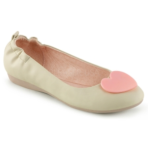 Creme OLIVE-05 ballerines chaussures plates femmes
