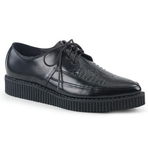 Cuir 3 cm CREEPER-712 Chaussures Creepers Hommes Plateforme