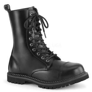 Cuir véritable RIOT-10 bottes à cap d acier demonia - bottes de combat unisex