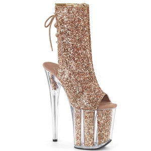 Cuivre paillettes 20 cm FLAMINGO-1018G bottines de pole dance