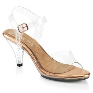 Dorée 8 cm BELLE-308 sandales à talons aiguilles
