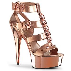 Dorée Similicuir 15 cm DELIGHT-658 chaussures pleaser talons hauts