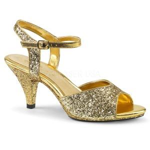 Dorée etincelle 8 cm BELLE-309G chaussures travesti