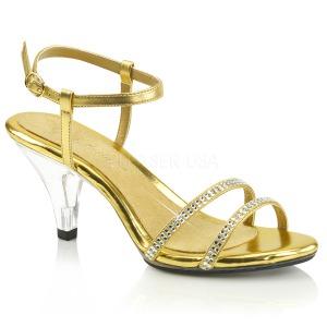 Dorée pierre strass 8 cm BELLE-316 chaussures travesti
