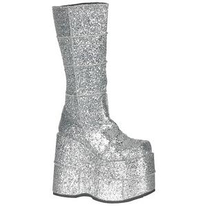 Etincelle 18 cm STACK-301G Bottes Gothiques Hommes Plateforme