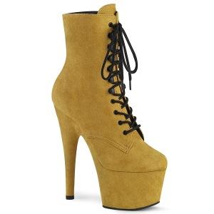Jaune Similicuir 18 cm ADORE-1020FS bottines femmes à lacets
