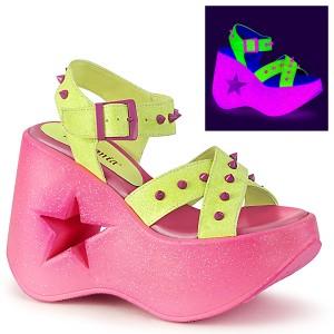 Neon 13 cm Demonia DYNAMITE-02 sandales lolita talons compensées