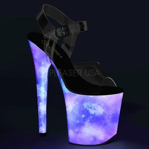 Neon 20 cm FLAMINGO-808REFL chaussure à talons de pole dance