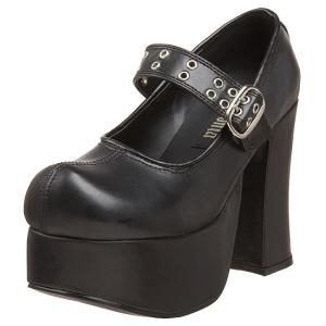 Noir 11,5 cm CHARADE-05 chaussures lolita gothique femmes semelles épaisses