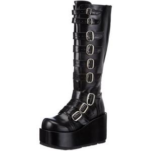 Noir 11 cm CONCORD-108 bottes lolita gothique semelles épaisses