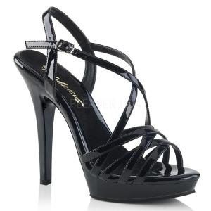 Noir 13 cm Fabulicious LIP-113 sandales à talons aiguilles