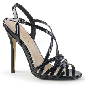 Noir 13 cm Pleaser AMUSE-13 sandales à talons aiguilles