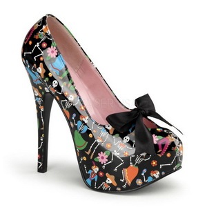 Noir 14,5 cm Burlesque TEEZE-12-4 Chaussures pour femmes a talon