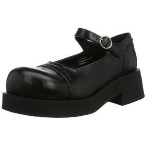 Noir 5 cm CRUX-07 chaussures lolita gothique