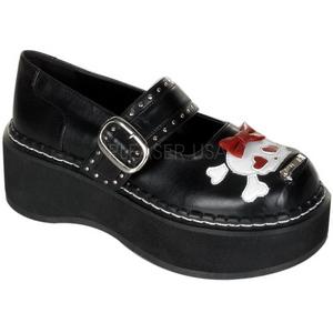 Noir 5 cm EMILY-221 chaussures lolita gothique femmes semelles épaisses