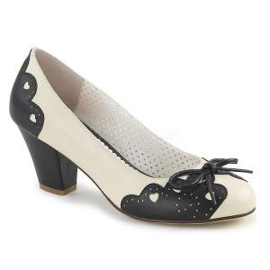 Noir 6,5 cm WIGGLE-17 Pinup escarpins femmes à talons épais