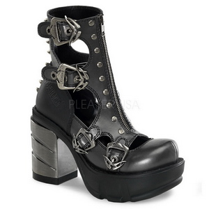 Noir 9 cm SINISTER-61 bottines lolita gothique semelles épaisses