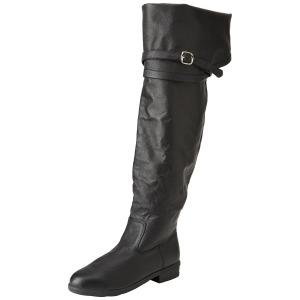 Noir Cuir 4 cm MAVERICK-2045 Cuissardes pour Hommes